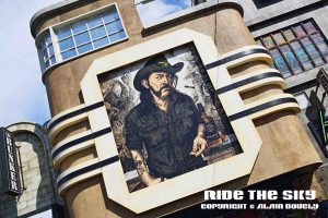 Lemmy sur une façade de la Hell City Stret.